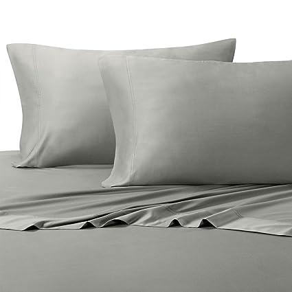 Amazon Com 100 Bamboo Bed Sheet Set Queen Solid Grey Super