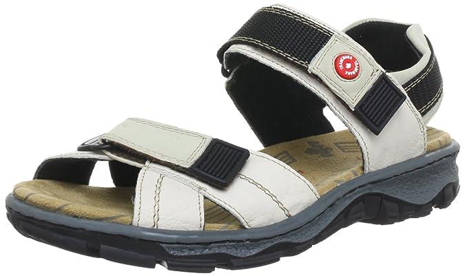 Rieker Damen 68851 Offene Sandalen mit Keilabsatz