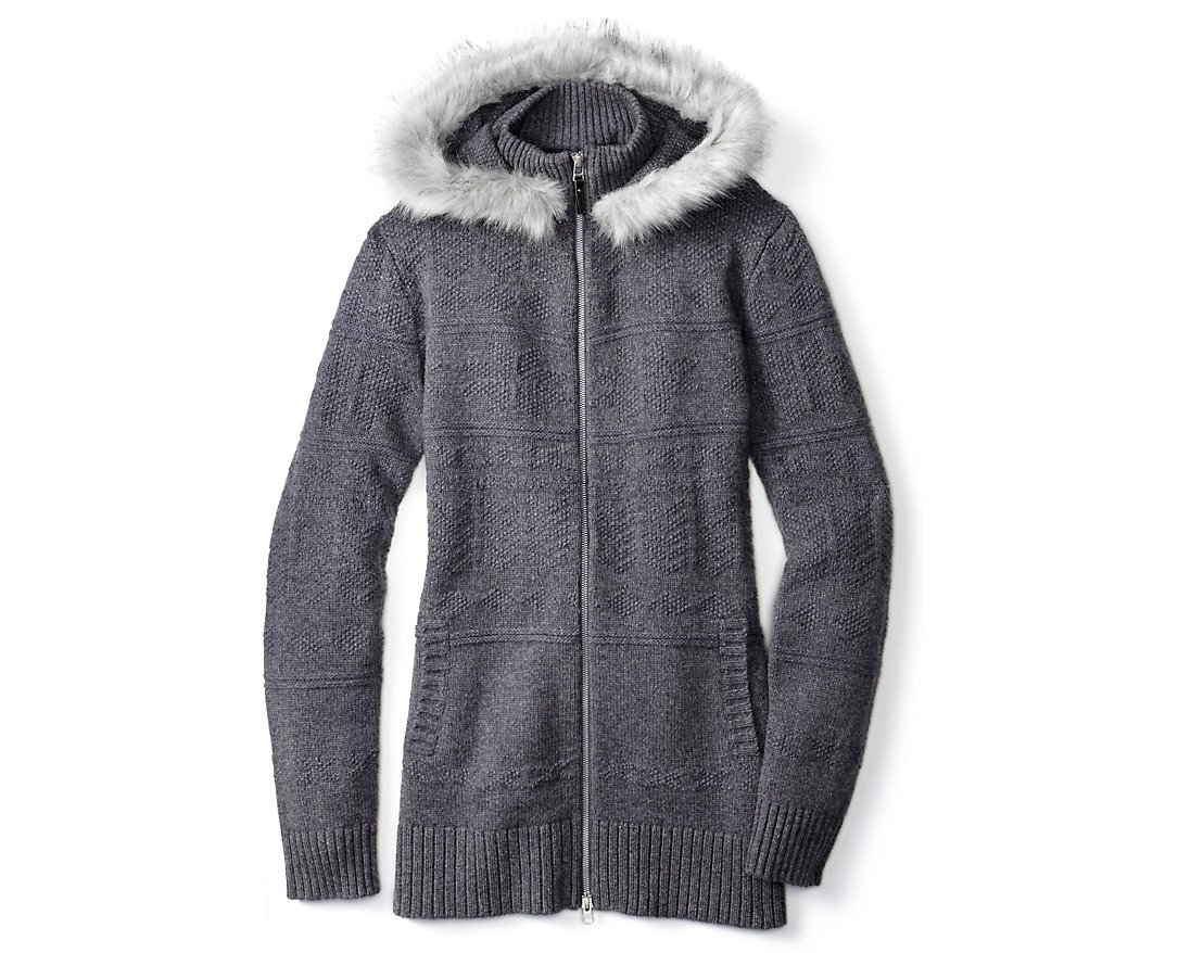 Smartwool Women's Crestone Hooded Sweater Jacket (Medium Gray Heather) X-Large by SmartWool