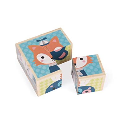 Janod My First Blocks Forest Portraits Baby Toy: Toys & Games