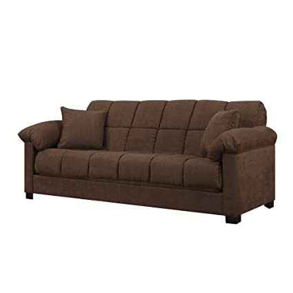 Amazon.com: Full Sleeper Sofa - Convertible Microfiber Tufted Couch ...