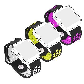 Bepack Fitbit Blaze Correa, Silicona Súper-suave Adjustable Reemplazo Band para Fitbit Blaze Smartwatch