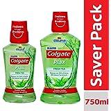 Colgate Plax Fresh Tea Mouthwash – 250 ml with Colgate Plax Fresh Tea Mouthwash – 500 ml