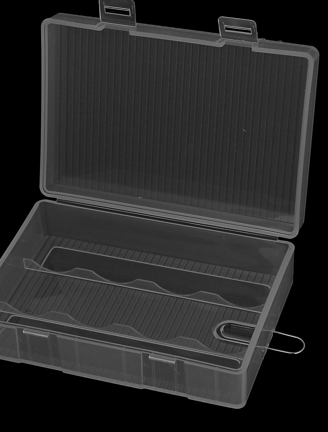 La caja de almacenaje de plástico transparente para titular 4 x pilas AA batería - - Amazon.com
