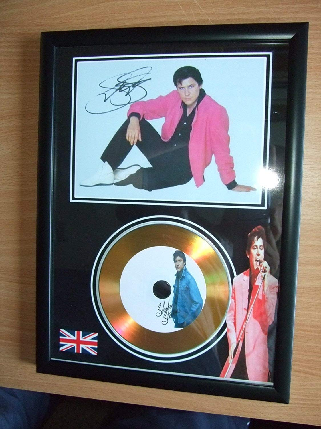 shakin stevens signed gold disc home disc