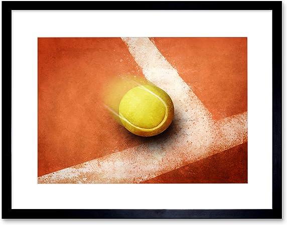 SPORT PHOTOGRAPH TENNIS ACTION BALL LINE COURT ART PRINT POSTER MP4033A