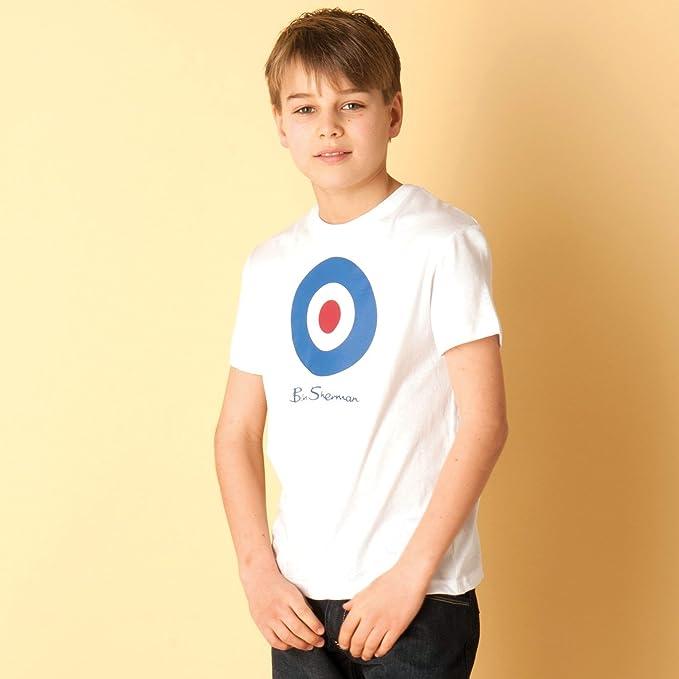 90a9d6fa7 Ben Sherman camiseta Target para niño (blanco)  Amazon.es  Ropa y ...
