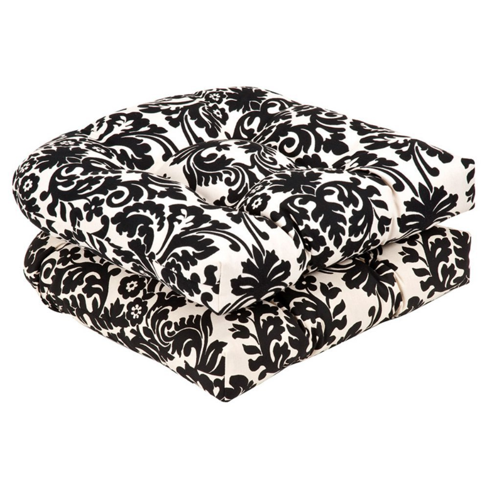 Pillow Perfect Tufted Wicker Chair Cushion - All