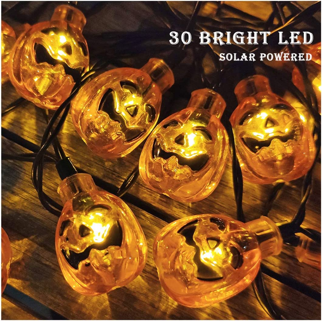 Details about  /AM/_ EE/_ Hollow Pumpkin with Hat LED Light Lamp Lantern Halloween Party Bar Decor