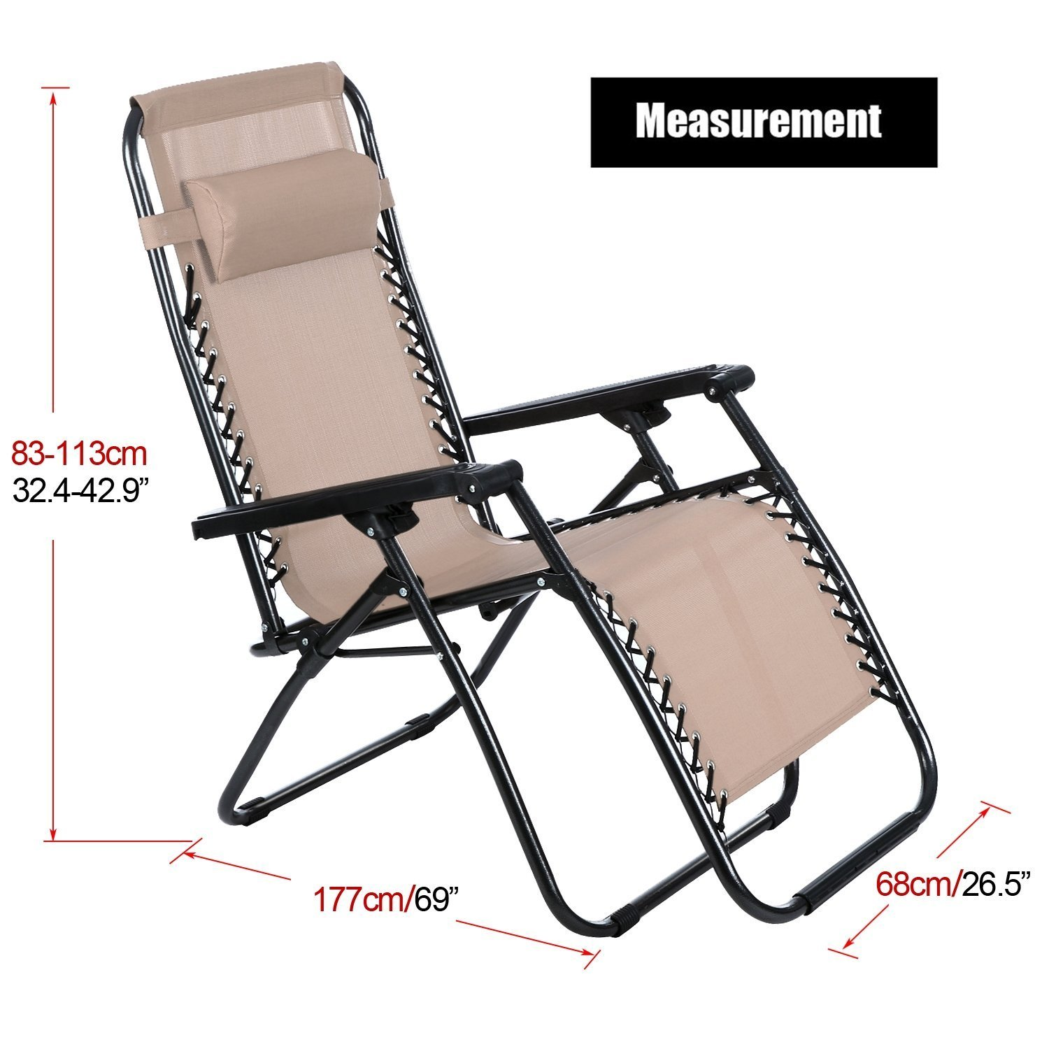 Amazon.com : Hindom Outdoor Folding Lounge Chair, Zero Gravity ... on leather lounge chairs, accent chairs, plastic lounge chairs, beach lounge chairs, office chairs, adirondack chairs, leopard print chairs, bedroom chaise chairs, cool chairs, outdoor lounge chairs, rattan lounge chairs, oversized chairs, living room chairs, relaxing chairs, high back lounge chairs, indoor lounge chairs, chaise beach chairs, wicker chairs, pool chairs, dining chairs,