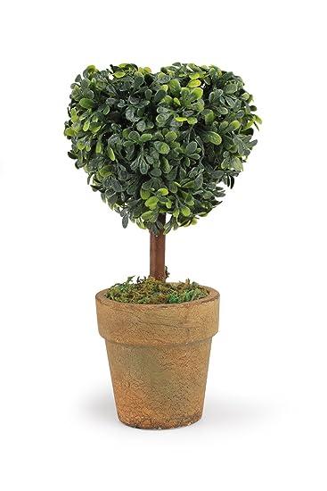 Weddingtree Kleiner Baum im Topf rund Herz Kunstblumen natur ca