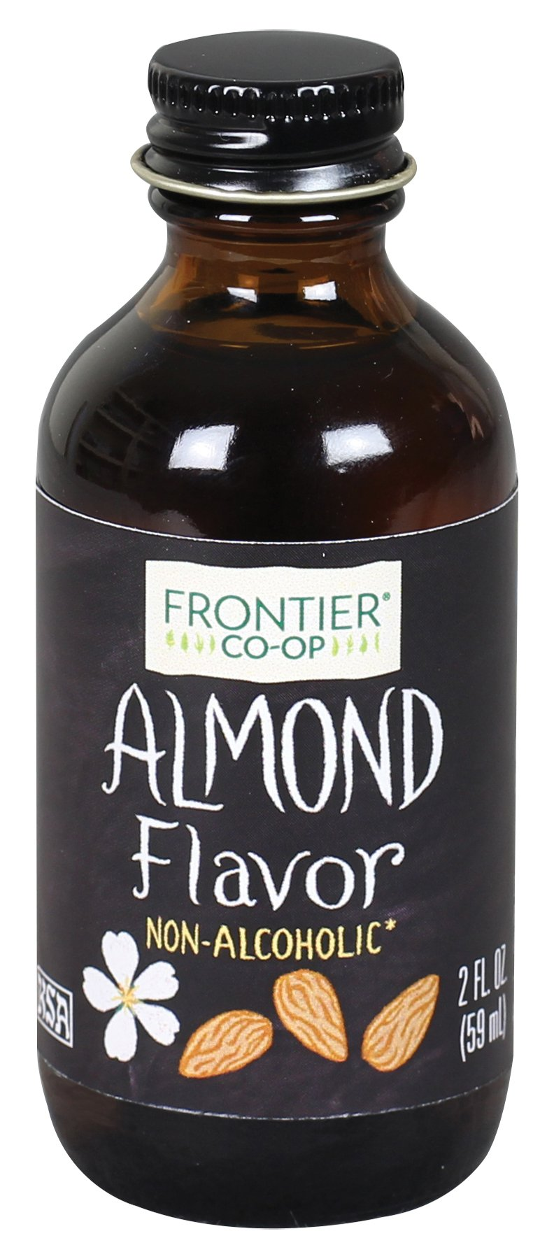 Frontier Co-op Almond Flavor, Non-Alcoholic, 2 ounce bottle