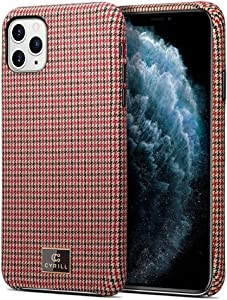 CYRILL [Fabric Collection] Fabric Case Designed for iPhone 11 Pro Max (2019) - Ivy Red