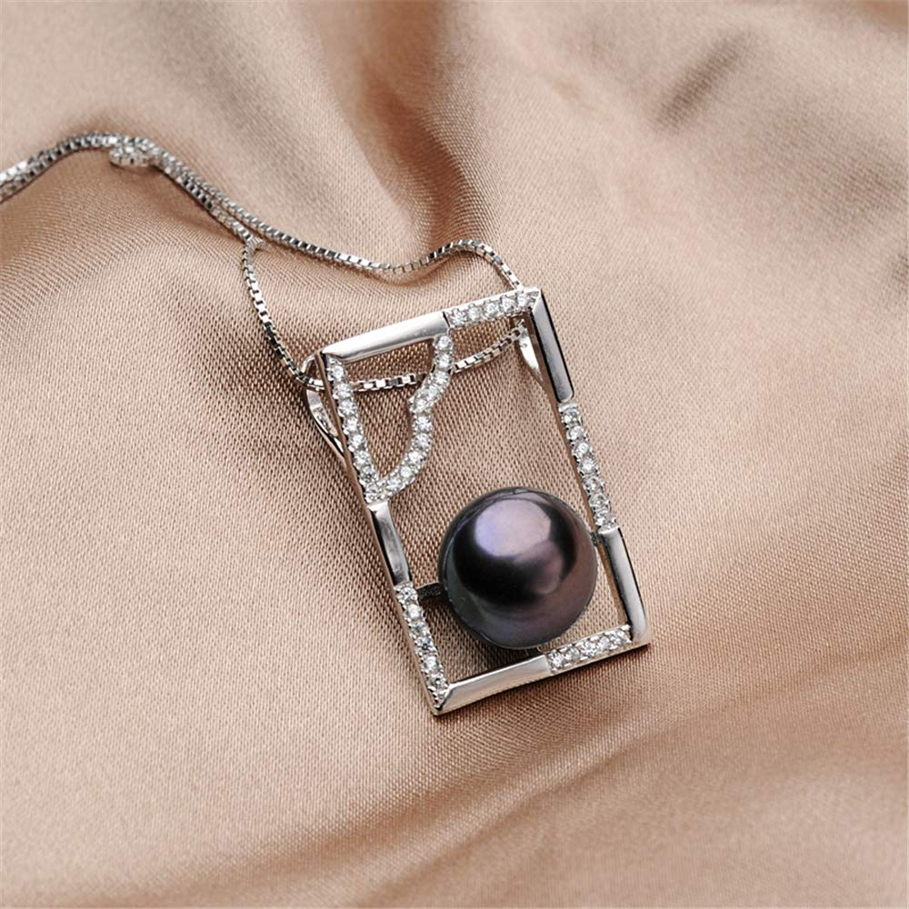 GLEENECKLAC Pearl Jewelry Round Pendant Pearl Necklace for Women Freshwater Necklace Pendant with Zircon