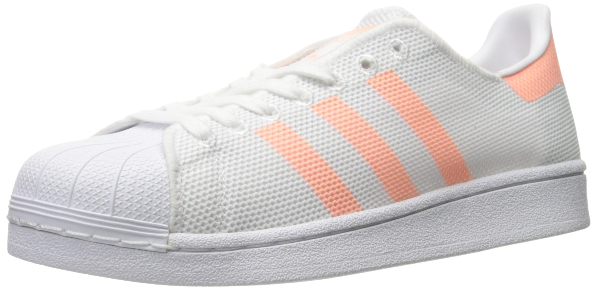 adidas Originals Women's Shoes Superstar Fashion Sneakers, White/Sun Glow/White, (6.5 M US)