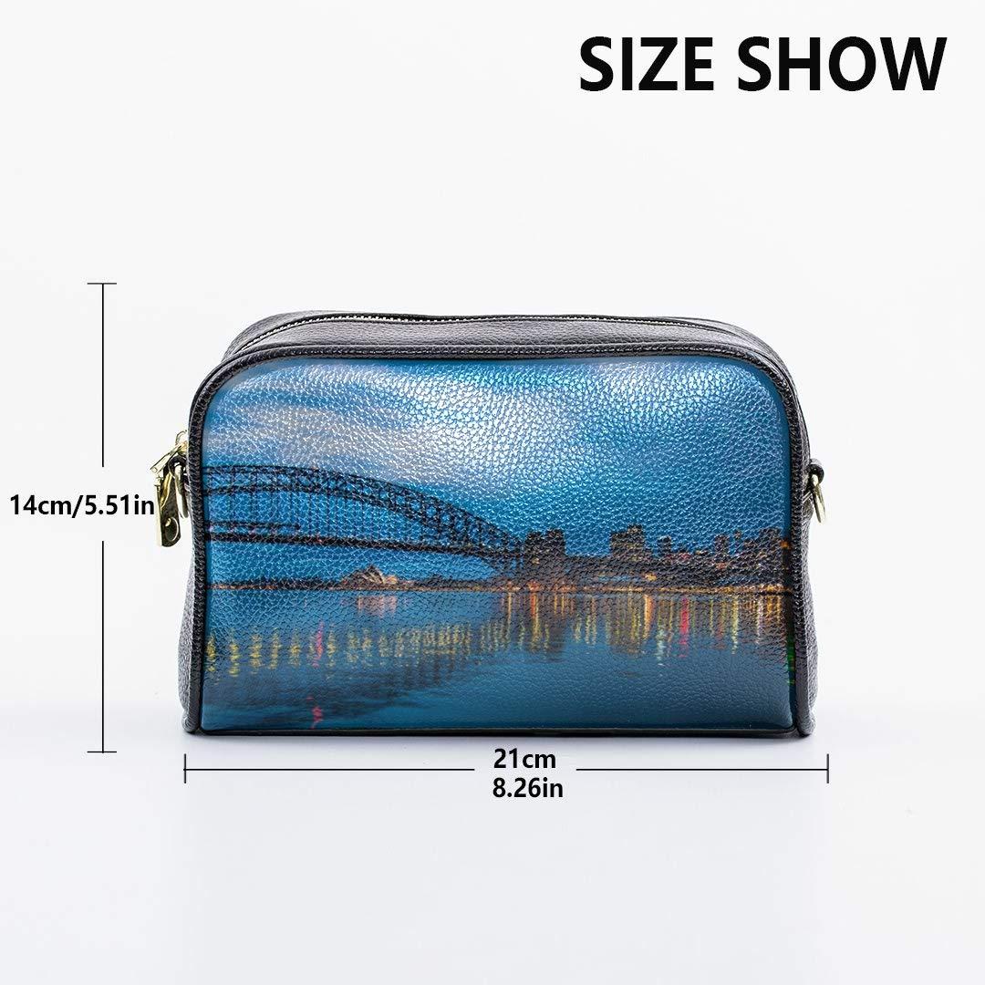 Bridge And Opera House Bright Sydney Harbour Shoulder Bags Medium Fun Shoulder Bag With Adjustable Long Strap Work Handbag Mens Crossbody Messenger Bag Fashion Overnight Bag