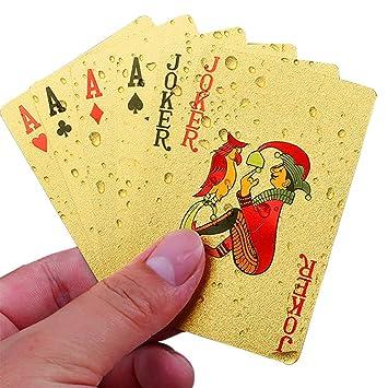 Naipes Oro Poker Tarjetas de Juego Impermeables Jugando a ...