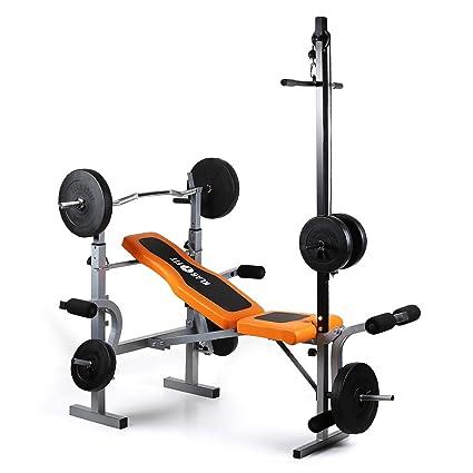 Gimnasio en casa Klarfit Ultimate Multi-Gym 3500; banco de peso, 150 kg de capacidad de ...