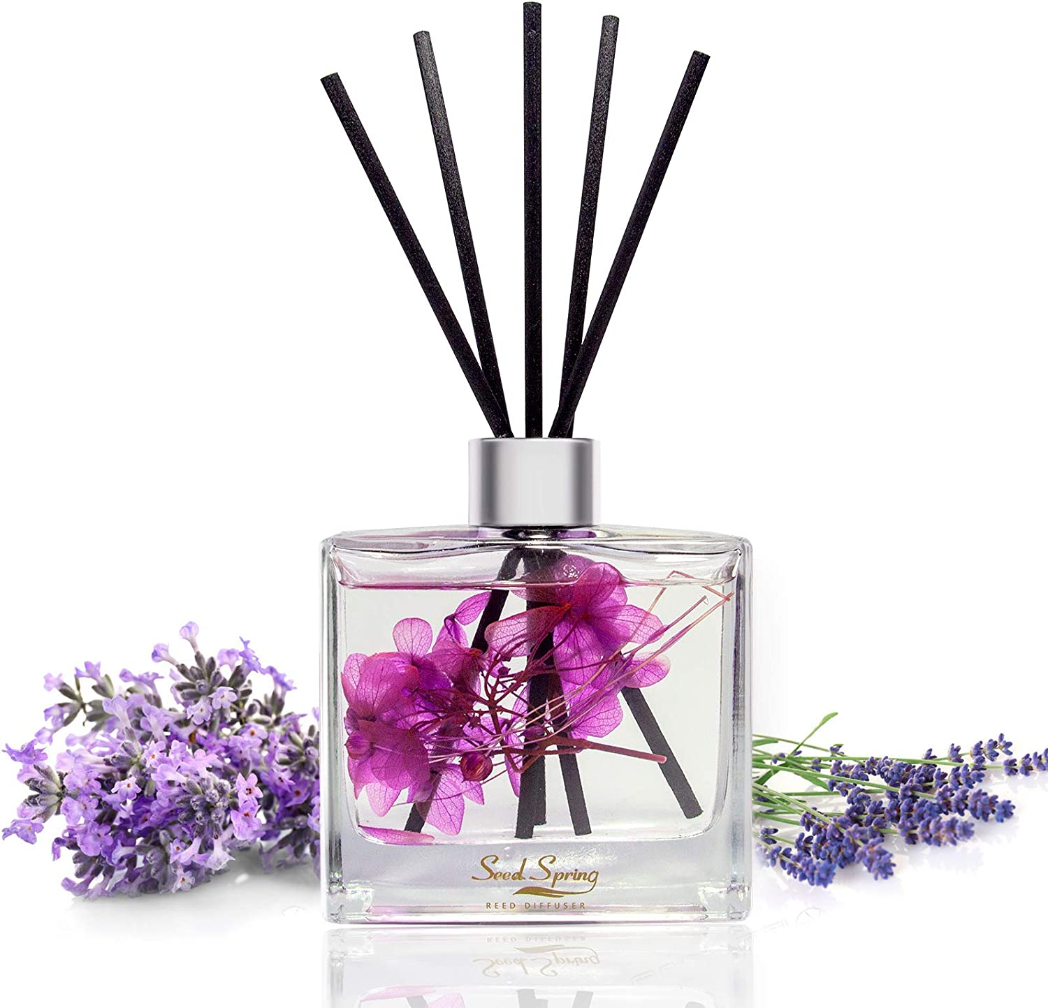 Seed Spring Reed Diffuser Lavender Aromatherapy Oil Effectively Improves Sleep soothes Mood and stabilizes Nerves Home Decoration and Office Decoration Perfume and Gifts 6.7oz (200ml)