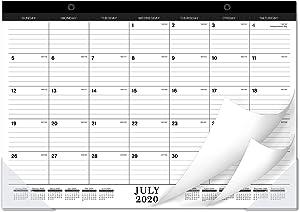 2020-2021 Desk Calendar - 18 Months Desk/Wall Calendar 2020-2021 with Transparent Protector, Standard, 17