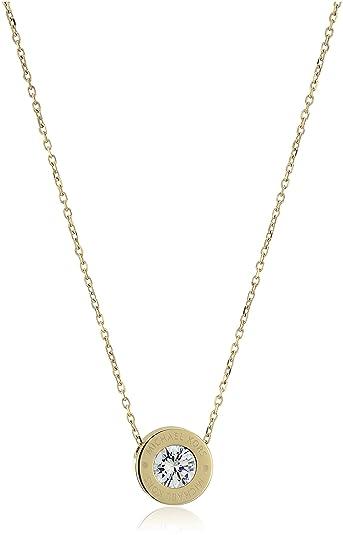 Amazon michael kors logo gold tone and crystal pendant necklace michael kors logo gold tone and crystal pendant necklace 18quot mozeypictures Choice Image