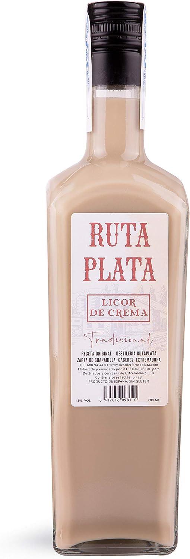 CEREX - Botella Crema de Orujo RutaPlata Extremeño - Botella de 70 cl - Crema de Orujo Tradicional - Ideal para Regalar - Ingredientes de alta calidad