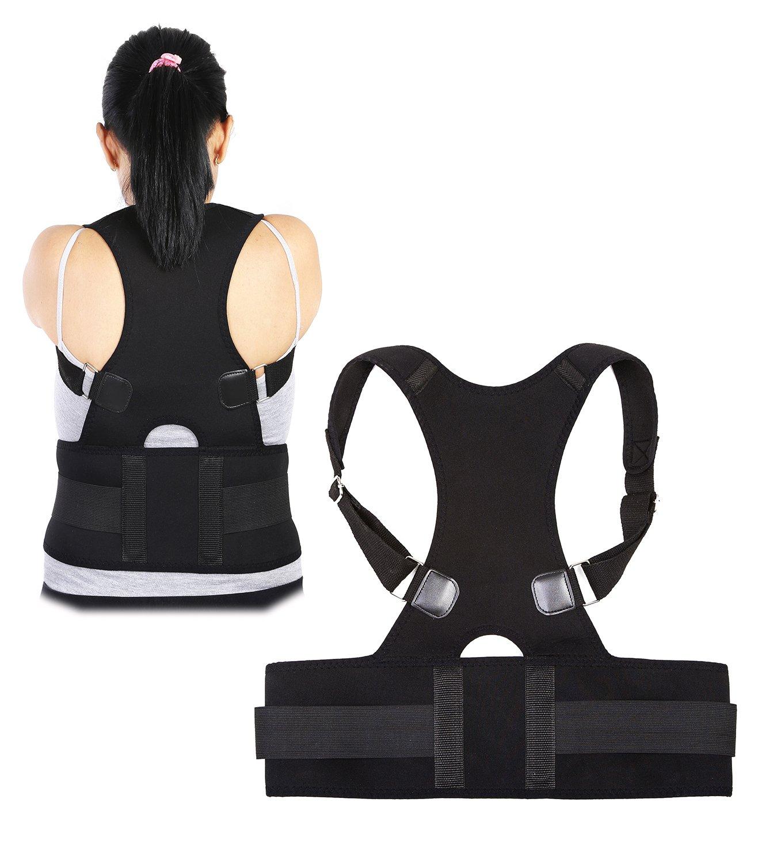 猫背矯正ベルト 姿勢改善 肩こり 解消 姿勢予防 姿勢サポーター 男女兼用 (S) B074K57DL4