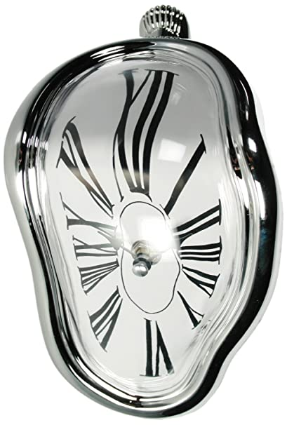 Amazon.com: out of the blue Plastic Desk Clock Inspired By Salvador Dali, Silver, 16.5 X 12.5 X 17.5 Cm: Home & Kitchen