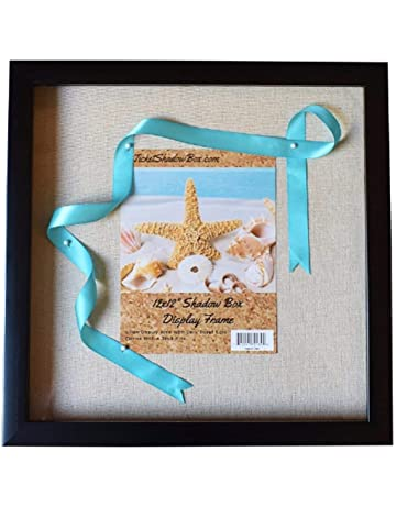 """1d903fe346b2 12x12"""" Display Shadow Box Frame with Linen Background   8 Stick Pins -  Ready To"""