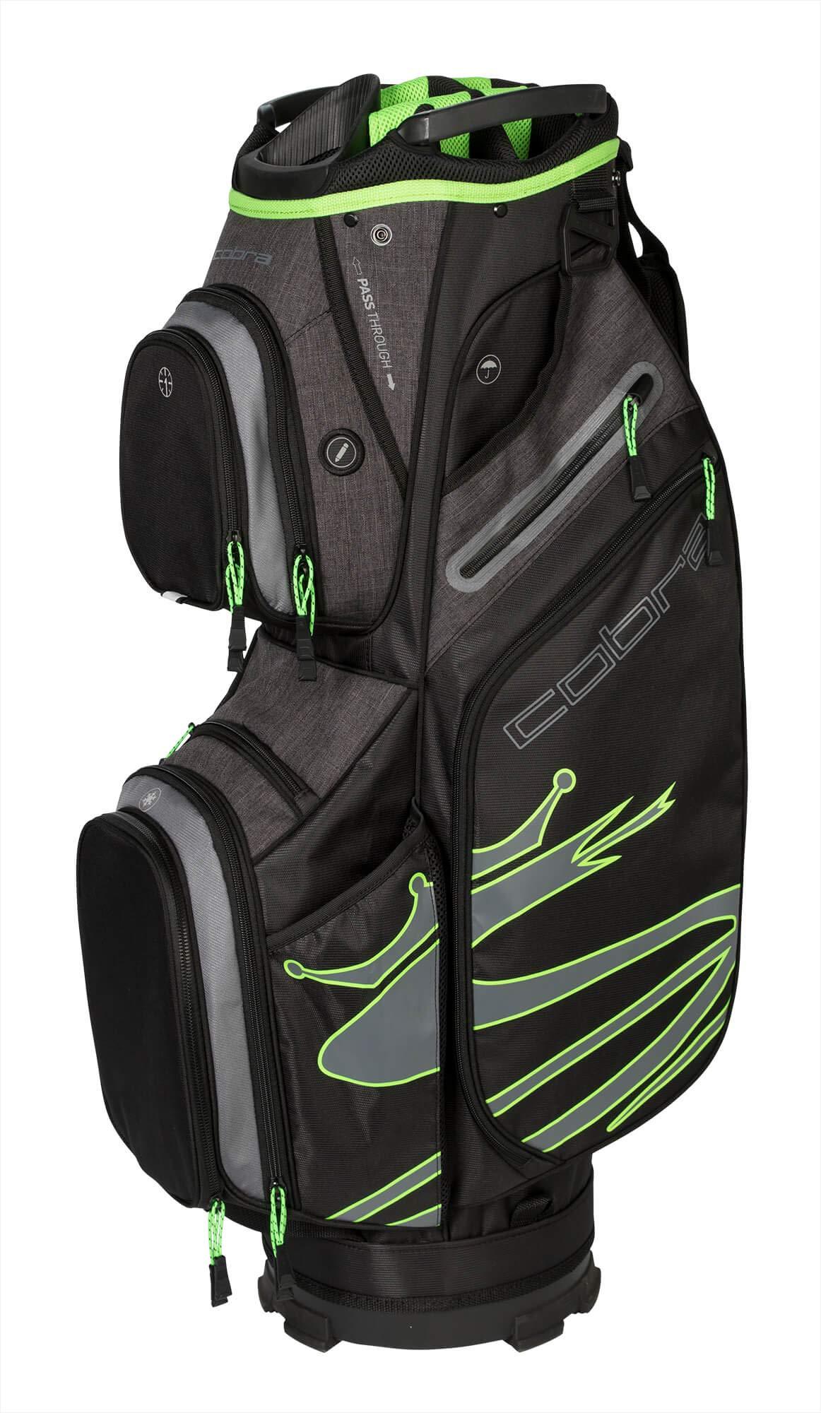 Cobra Golf 2019 Ultralight Cart Bag (Black-Green)