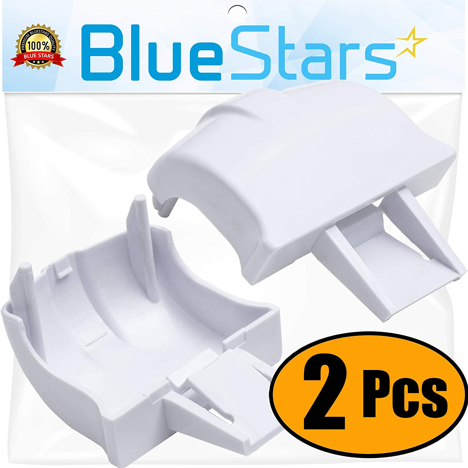Ultra Durable WR2X8345 Refrigerator Door Bar End Cap Replacement Part by Blue Stars - Exact Fit for GE Refrigerators - Replaces WR02X8345 WR71X2054 WR2X7617 - PACK OF 2