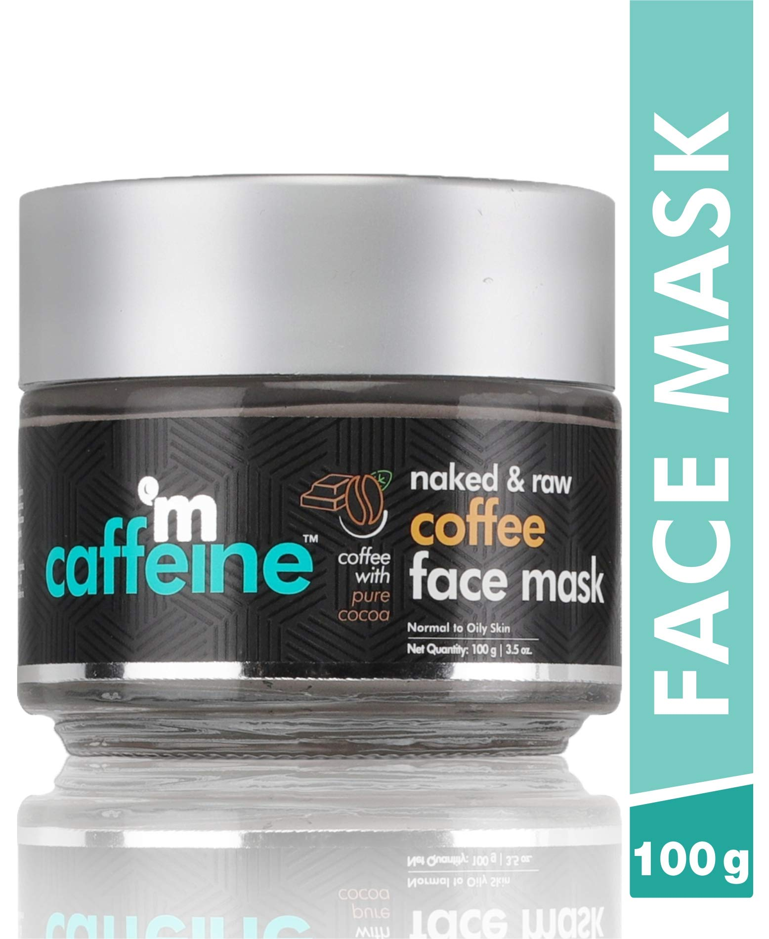 MCaffeine Naked & Raw Coffee Face Mask/Pack to remove acne , wrinkles , dark circles ( Cocoa, Vitamin E | Tan Removal | Oily/Normal Skin | Paraben & Mineral Oil-Free | 100 g )