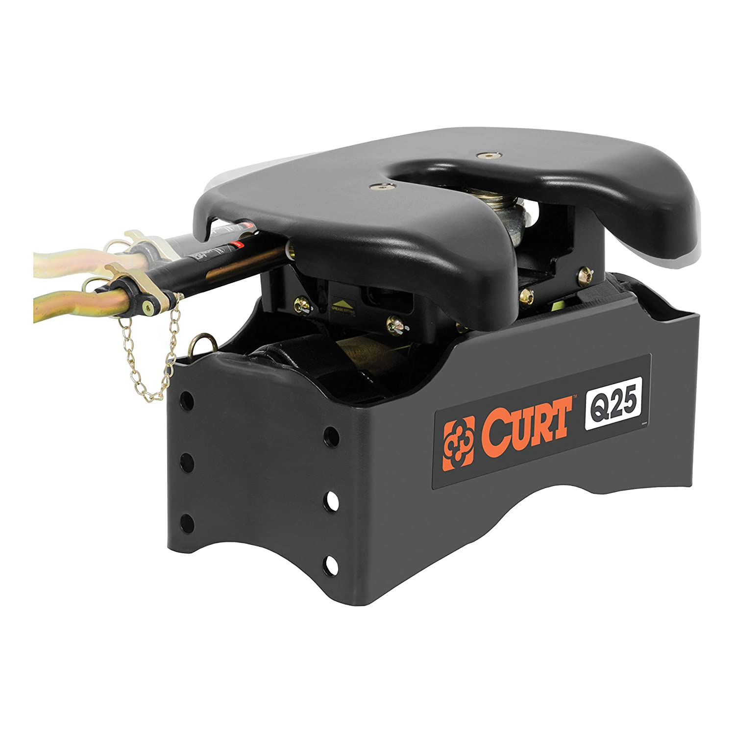 24,000 lbs. CURT 16666 Black Q25 5th Wheel Slider Hitch with Base Rails for Short Bed Trucks