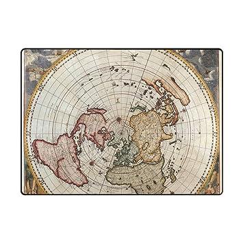 Amazon Com Ingbags Super Soft Modern Old Vintage World Map Area