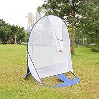 AYNEFY Honkbal-trainingsnet, draagbaar, voor binnen en buiten, opvouwbaar, sportaccessoire voor het net van doelen.