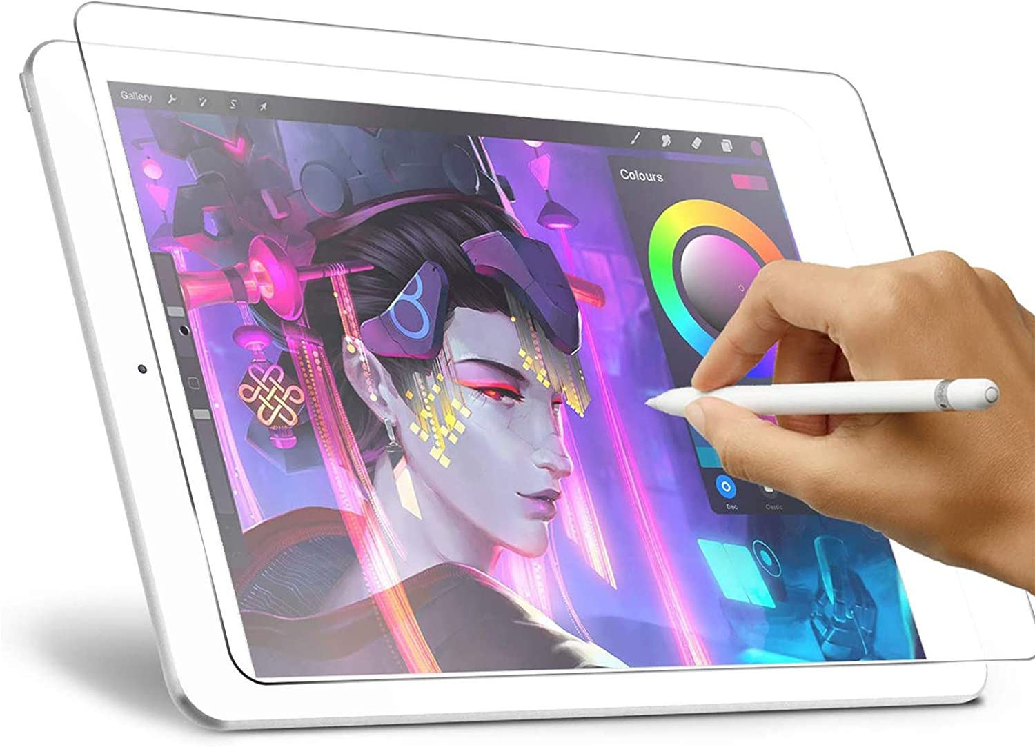 Like Paper Screen Protector for iPad 8th/7th Generation (10.2-Inch, 2020/2019 Model), XIRON High Touch Sensitivity No Glare Scratch for iPad 10.2 Matte Screen Protector Compatible with Apple Pencil