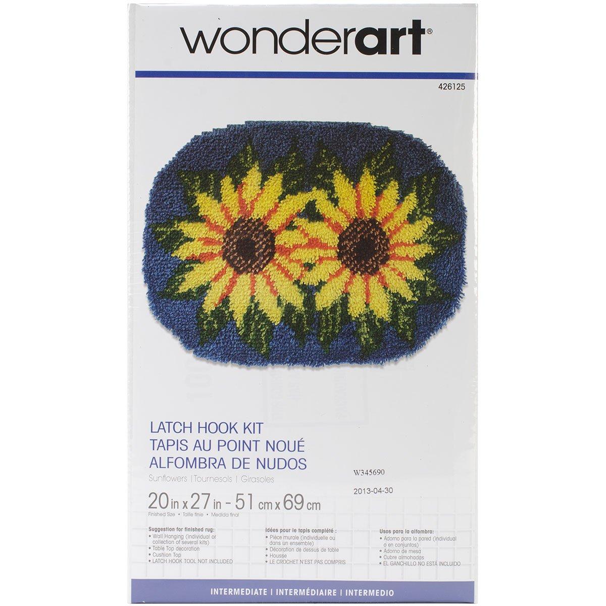 Wonderart Latch Hook Kit 20x 27 Sunflowers