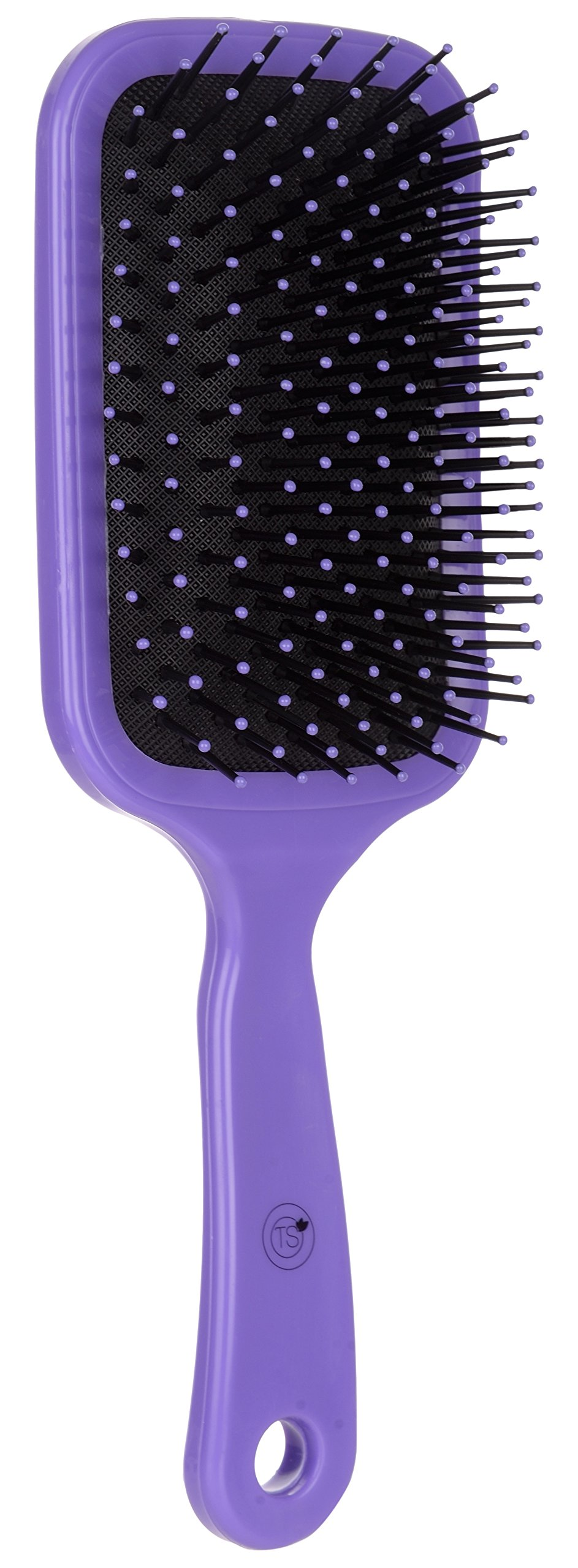 TS Hair Comb/Paddle Brush, Fibre, (Purple), Men And Women by STS