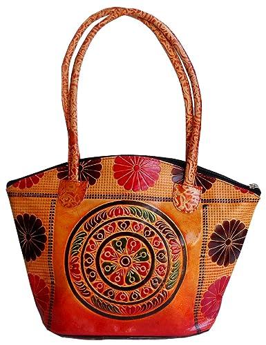 bb7b1b3abd Circles Design Ethnic Hand Embossed Shantiniketan Leather Indian ...