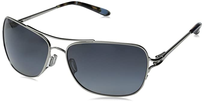 b852ad7219 Image Unavailable. Image not available for. Colour  Oakley Women s Conquest  OO4101-06 Polarized Aviator Sunglasses