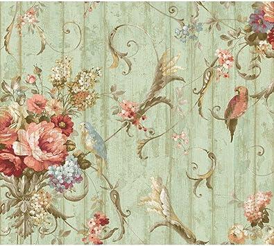 Vintage Original 1920s Design Wallpaper Floral Bouquet Most Beautiful Antique