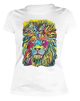 Pop Art Girlie : Löwe Lion ::: Hemd für Katzenfreundinnen: Amazon.de:  Bekleidung