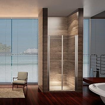 Aquamarin nichos Puerta para duchas Mampara de Ducha Puerta 110 cm x 195 cm: Amazon.es: Bricolaje y herramientas