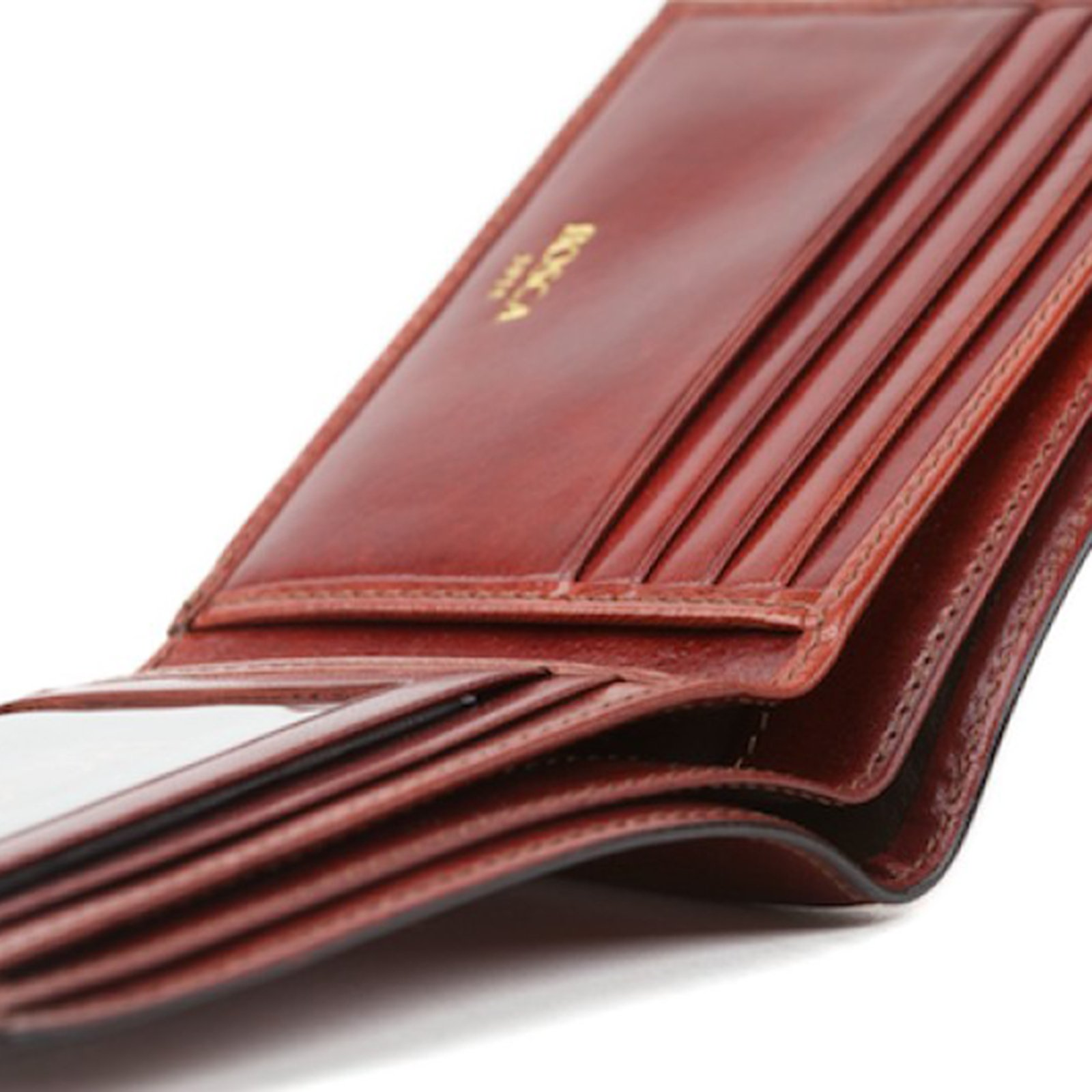 Bosca Men's Genuine Leather Bifold Executive ID Wallet (Cognac Brown)