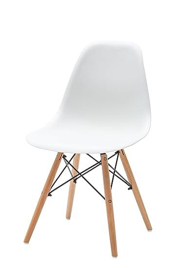 White Loft Möbel Für Alle LF434 Set Von 4 Stühle Zeitgenössisch 47x54x83 Cm  Bianco