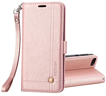 Ferilinso Case for Honor 7S/Huawei Y5 Lite 2018/Huawei Y5 2018, Wallet  Retro Leather Case with ID Credit Card Slot Holder Flip Cover Stand  Magnetic