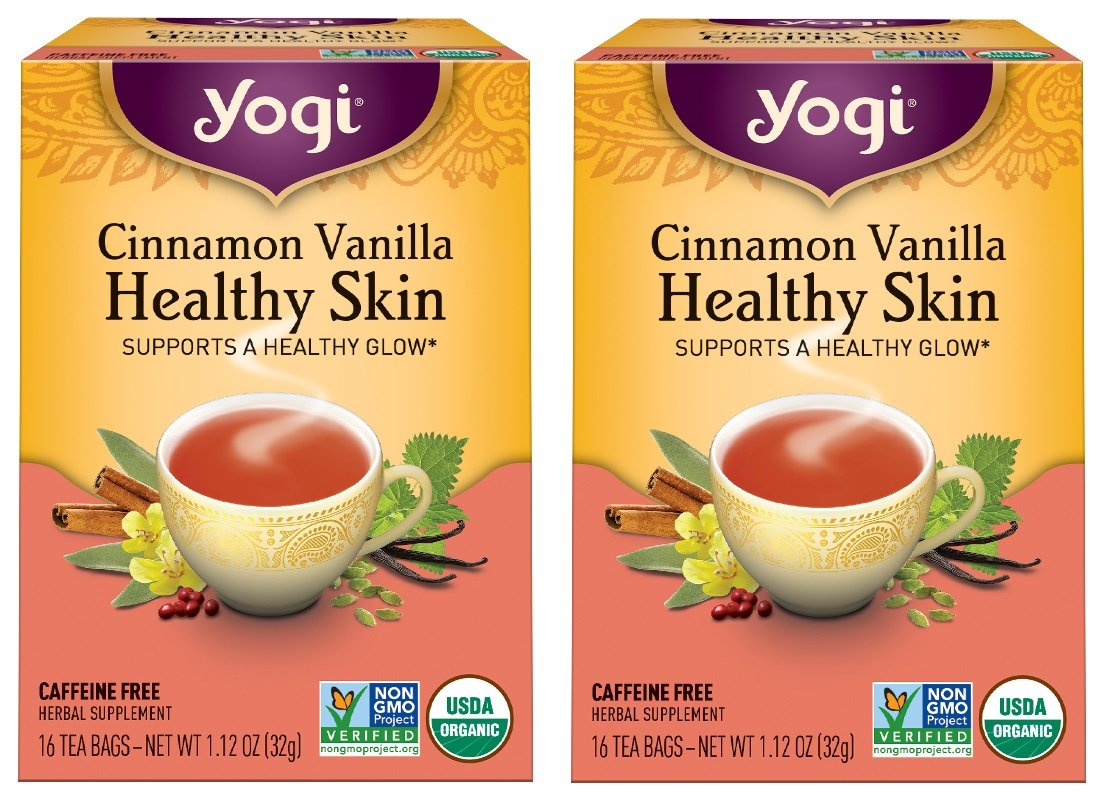 Yogi Tea Herbal Teas Cinnamon Vanilla Healthy Skin 16 tea bags (a) - 2pc by Yogi