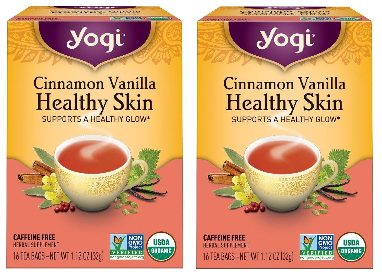 Yogi Tea Herbal Teas Cinnamon Vanilla Healthy Skin 16 tea bags (a) - 2pc by Yogi