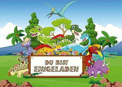 10 invitaciones de dinosaurio para cumpleaños infantiles ...