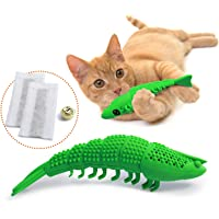 Cat Toothbrush Catnip Toy,Durable Hard Rubber,Cat Dental Care, Cat Interactive Toothbrush Chew Toy